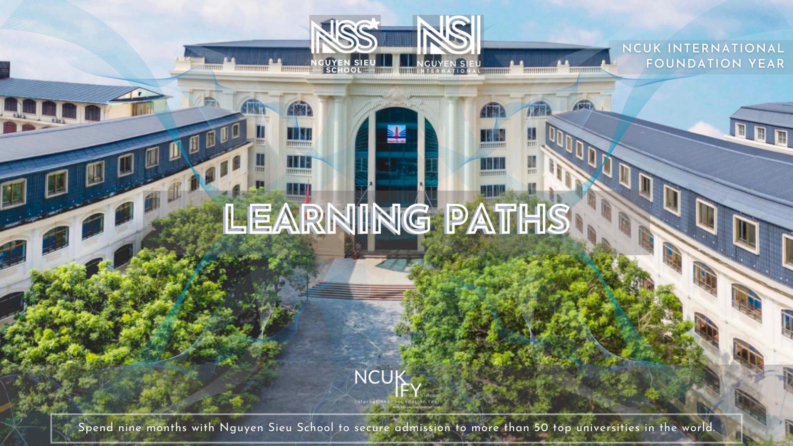 Learning Paths of the NCUK International Foundation Year at Nguyen Sieu School