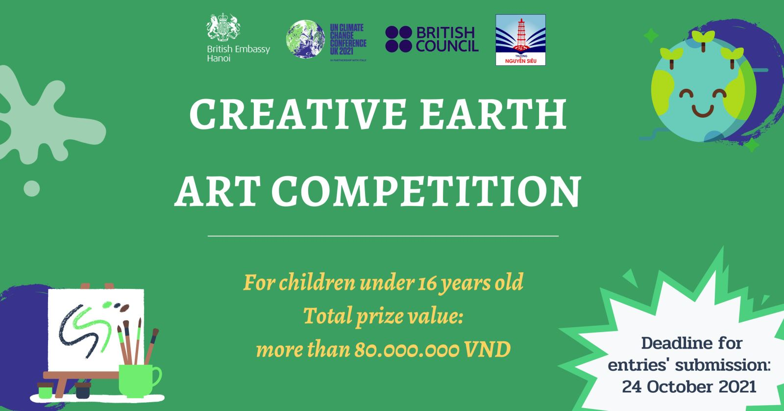 """Launch the Drawing Contest """"Creative Earth"""" With the British Embassy in Vietnam"""